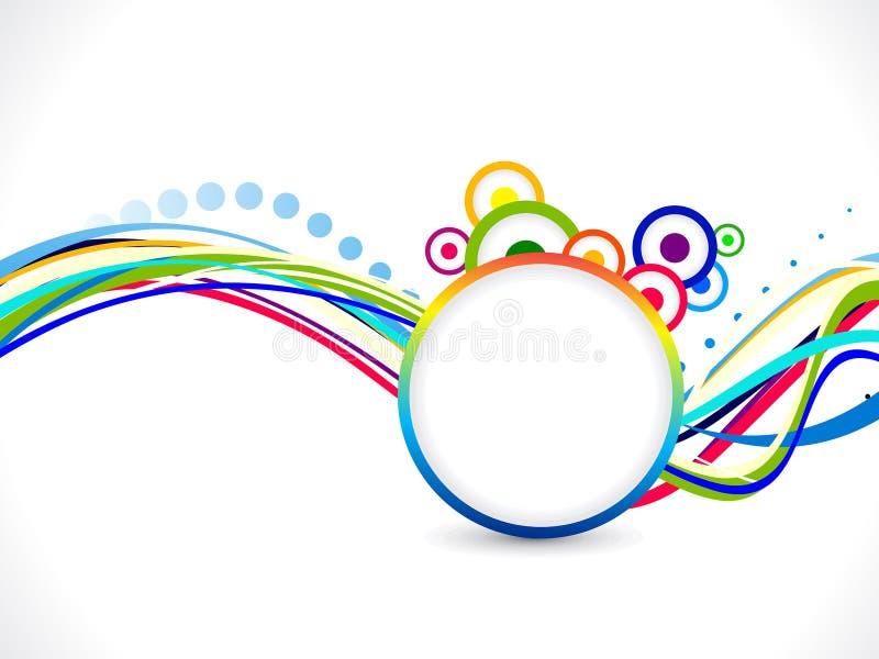 Fundo colorido abstrato do arco-íris ilustração do vetor