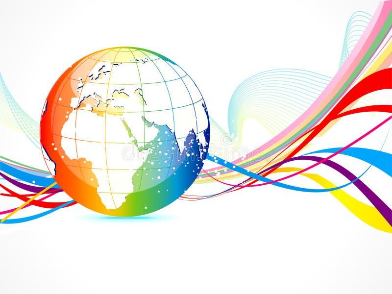 Fundo colorido abstrato do globo ilustração royalty free
