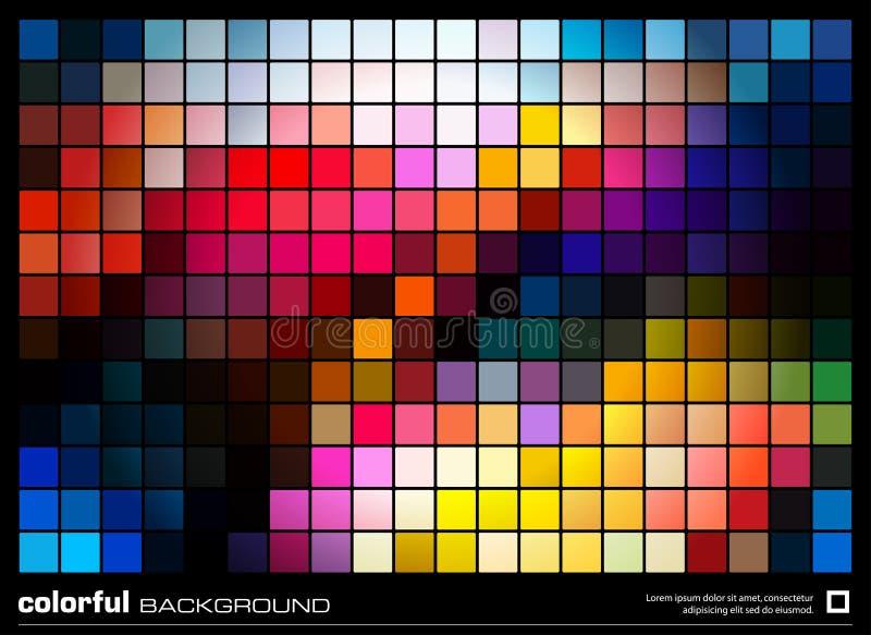 Fundo colorido abstrato do mosaico ilustração do vetor