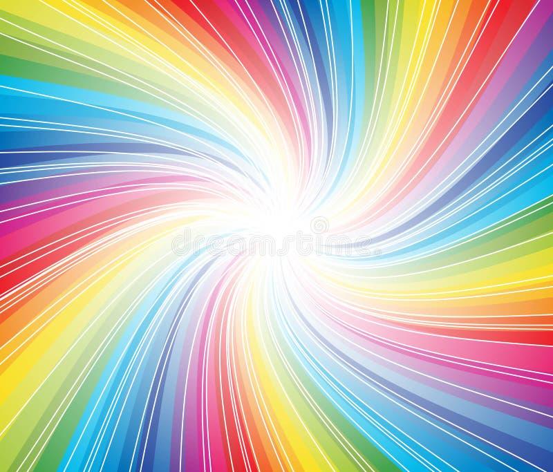 Fundo colorido abstrato do redemoinho da listra ilustração stock