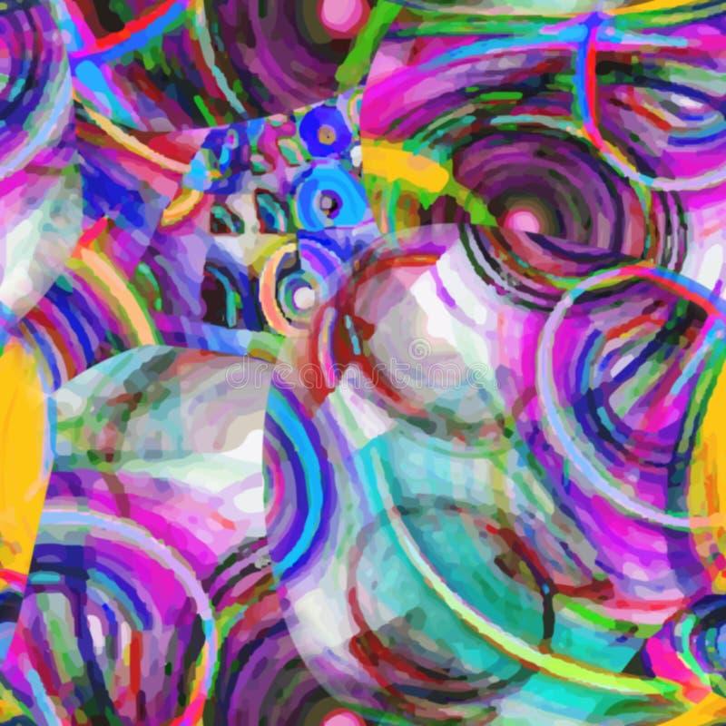 Fundo colorido abstrato do teste padrão do arco-íris da arte ilustração stock