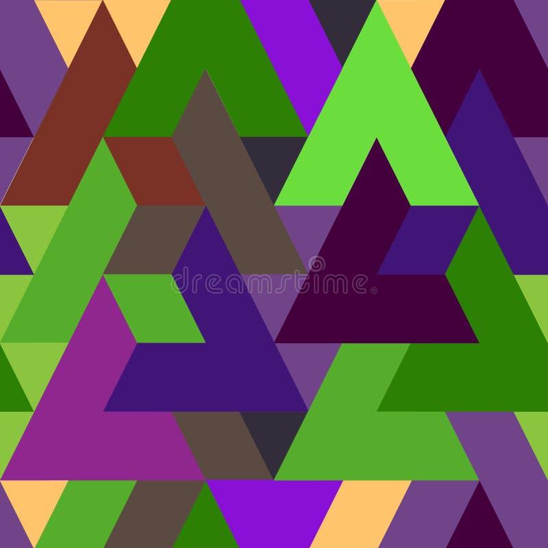 Fundo colorido abstrato do teste padrão do triângulo ilustração royalty free