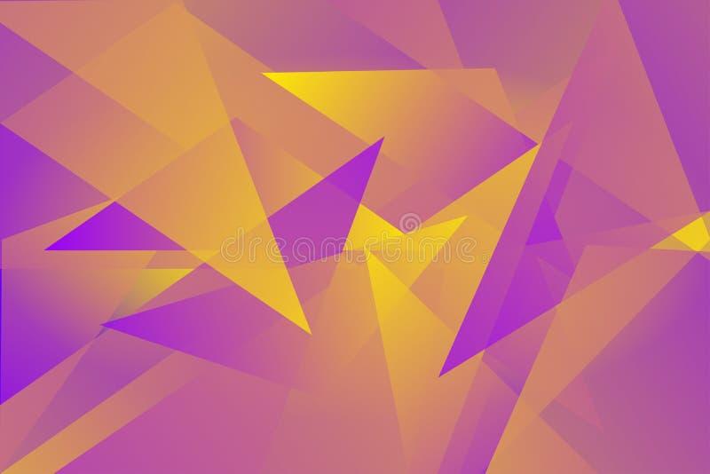 Fundo colorido abstrato do vetor da folha de prova do triângulo ilustração royalty free