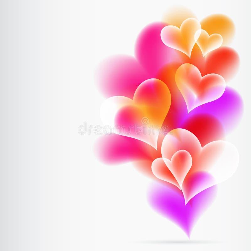 Fundo colorido abstrato dos heartes. ilustração stock