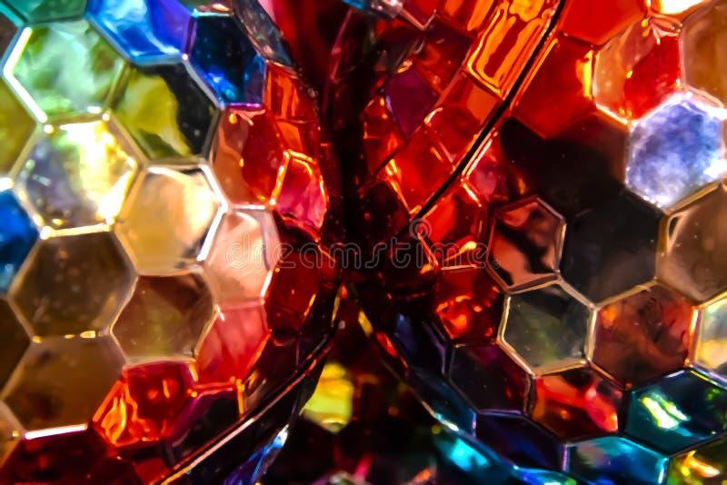 Fundo colorido abstrato dos hexgons em cores diferentes com efeito do bokeh foto de stock royalty free