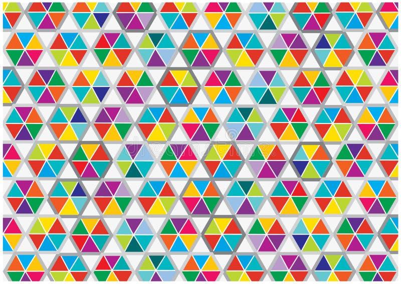 Fundo colorido abstrato dos triângulos ilustração royalty free