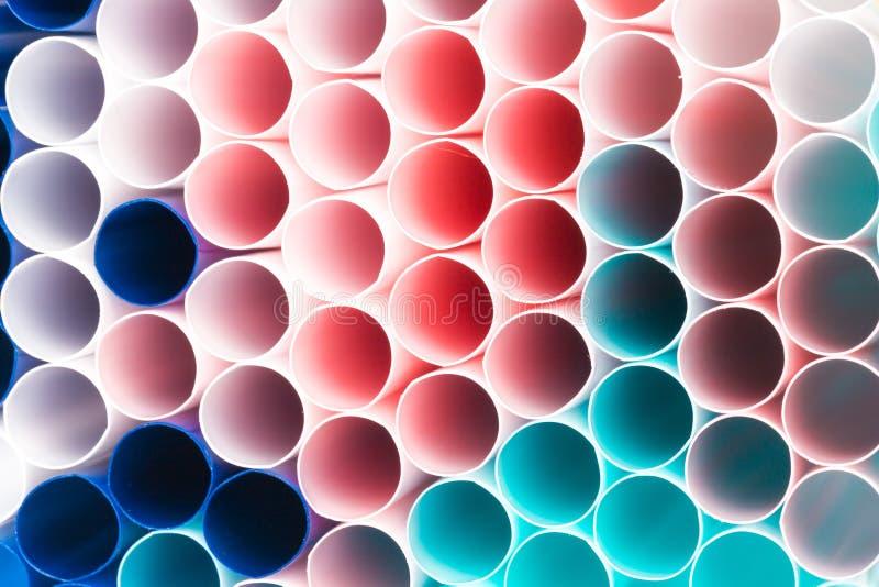 Fundo colorido abstrato Fundo dos tubos do cocktail perto acima Foco macio Tubos do cocktail de cores diferentes perto acima fotos de stock