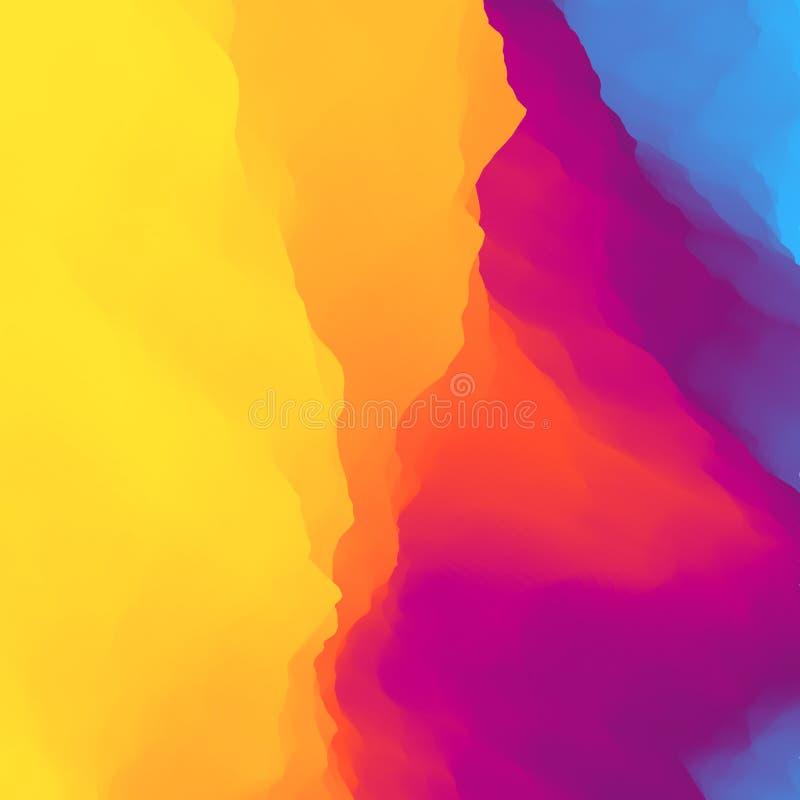 Fundo colorido abstrato Molde do projeto Teste padr?o moderno Ilustra??o do vetor para sua ?gua fresca de design ilustração stock