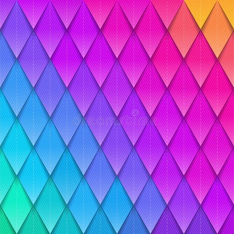 Fundo colorido abstrato Plumagem artificial colorida de papel Fundo de papel da cor, ilustração do vetor