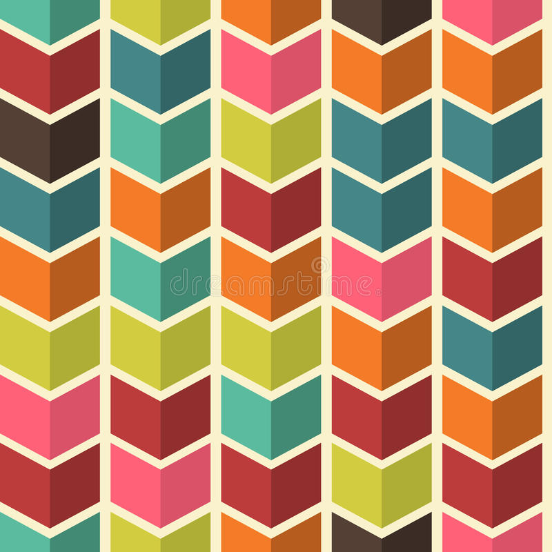 Fundo colorido abstrato sem emenda com as setas no colo moderno ilustração stock