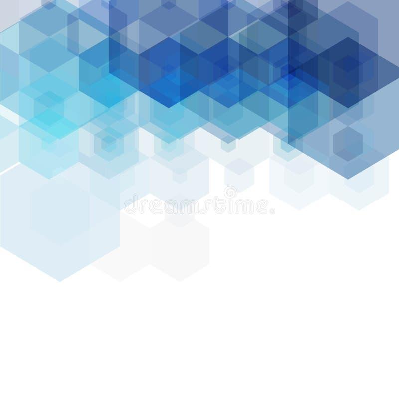 Fundo colorido azul do hex?gono Estilo poligonal Disposi??o para anunciar Vetor do neg?cio da apresenta??o Template EPS10 ilustração do vetor