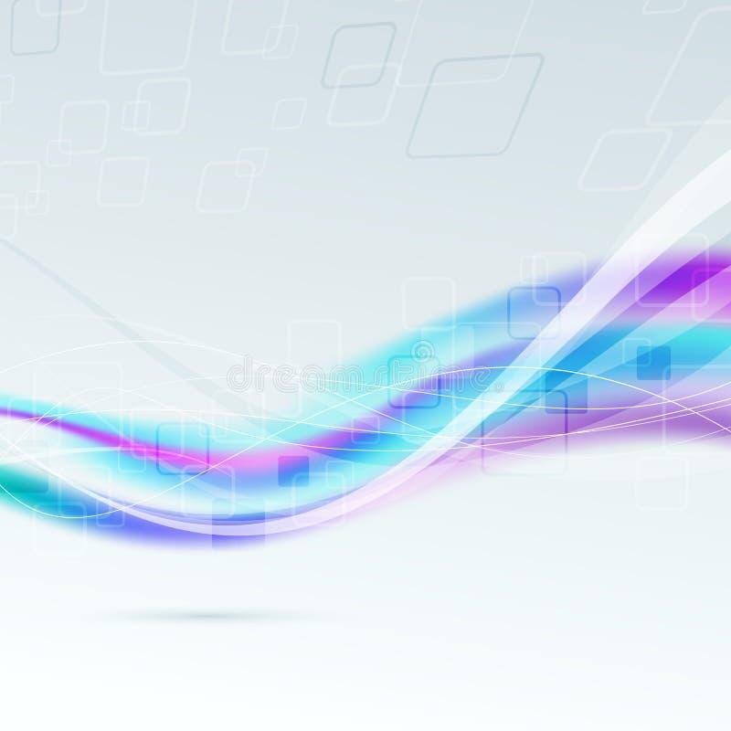Fundo colorido brilhante abstrato da onda ilustração royalty free