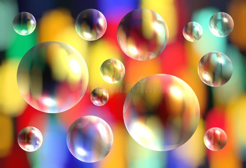 Fundo colorido brilhante abstrato do teste padrão com 3d transparente ilustração royalty free
