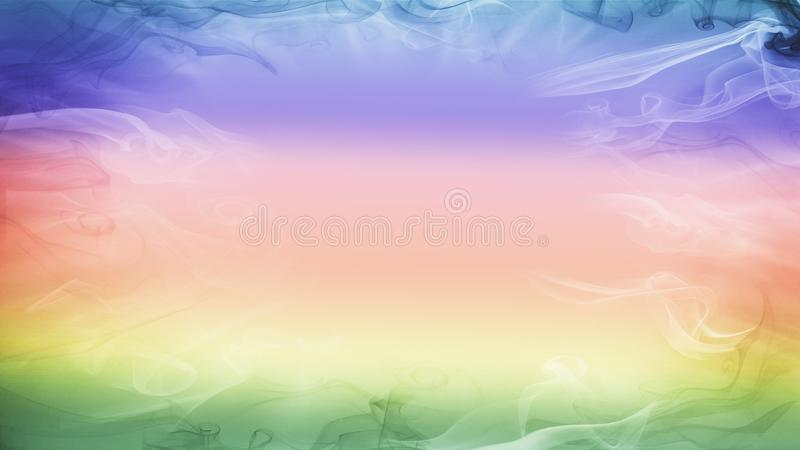 Fundo colorido brilhante do smokey foto de stock royalty free