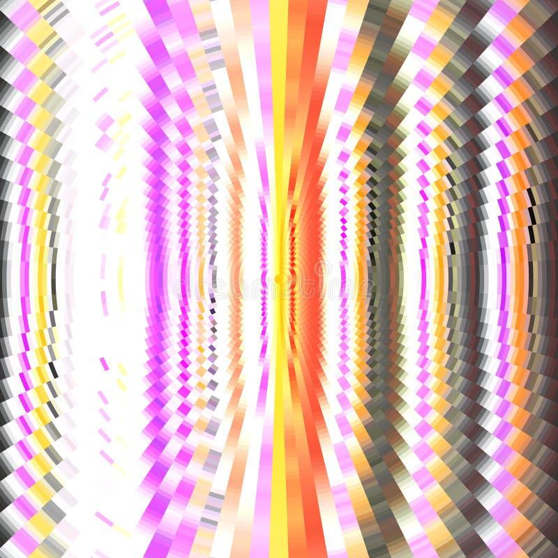 Fundo colorido com ondas circulares Imagem de pixel ilustração stock