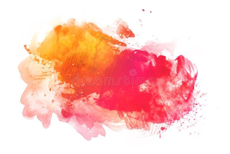 Fundo colorido da aquarela isolado no branco ilustração royalty free