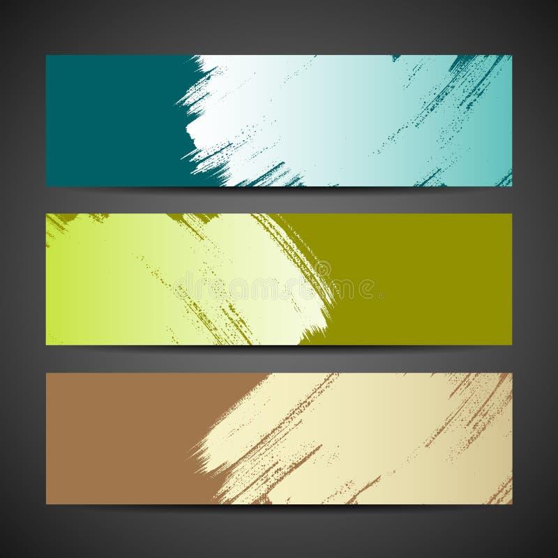 Fundo colorido da bandeira da escova de pintura ilustração do vetor