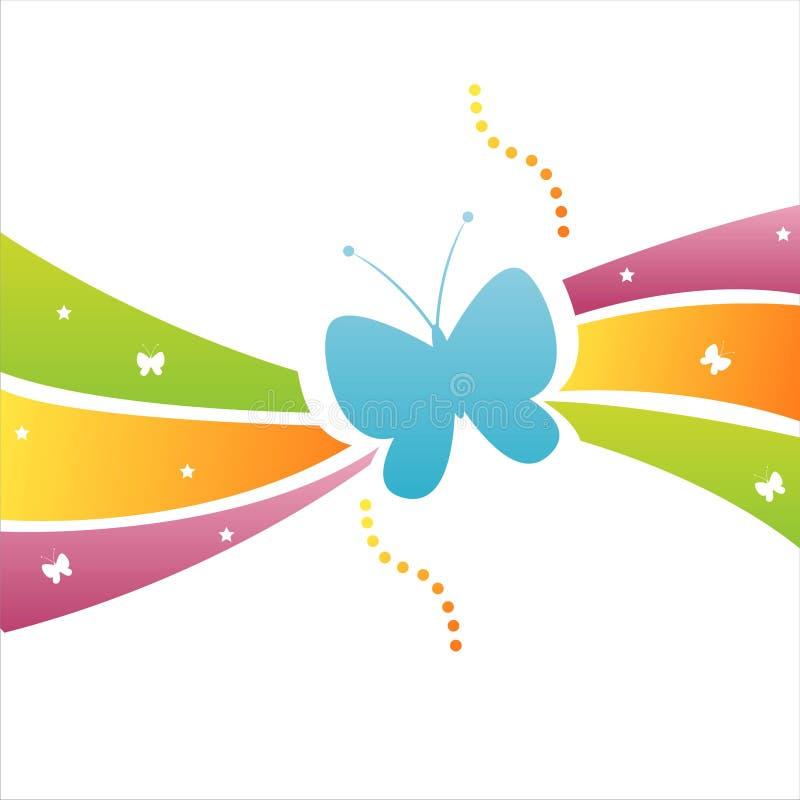 Fundo colorido da borboleta ilustração do vetor