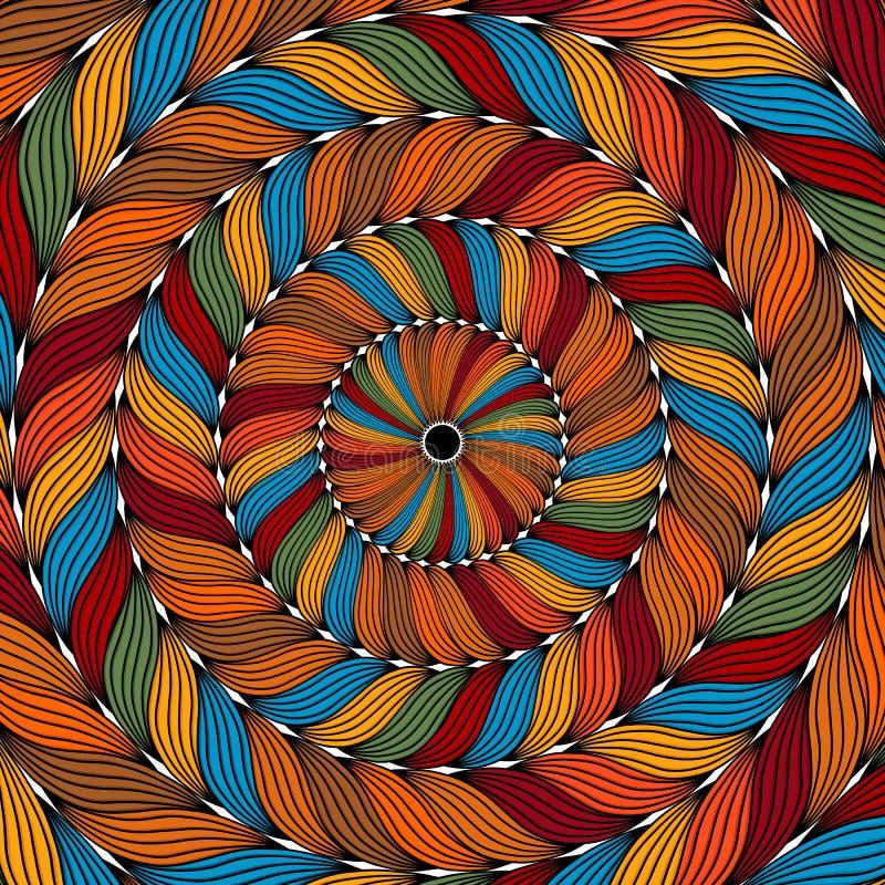 Fundo colorido da corda ilustração do vetor