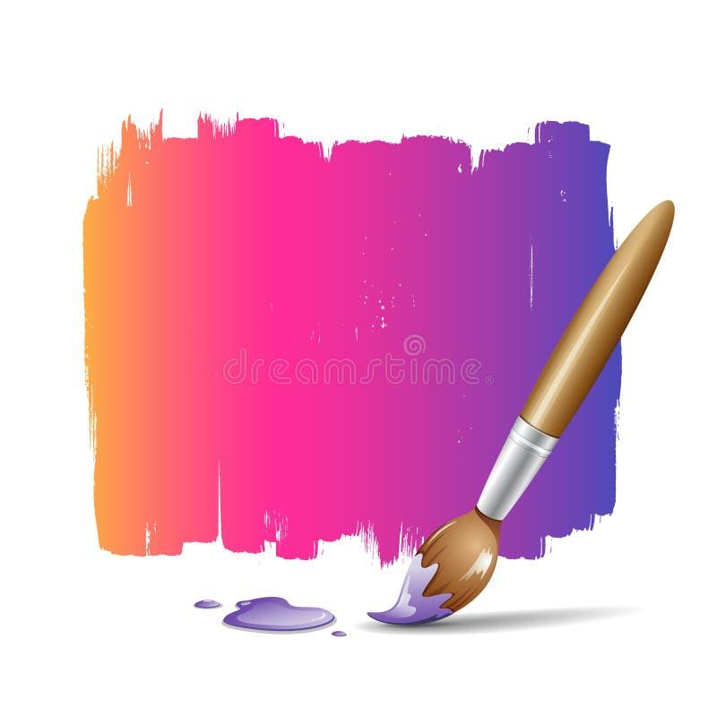 Download Fundo Colorido Da Escova De Pintura Ilustração Stock - Ilustração de tampa, fundos: 26500514