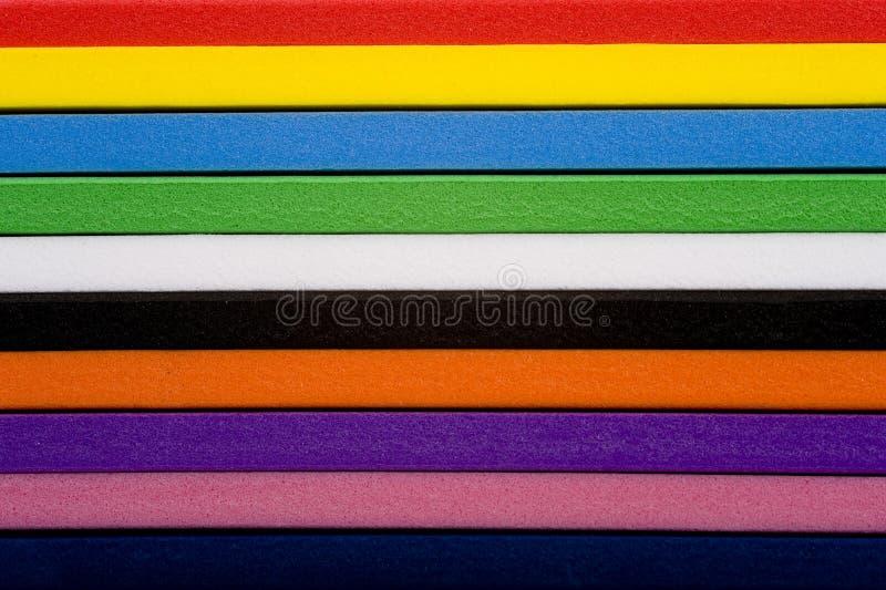 Fundo colorido da espuma foto de stock