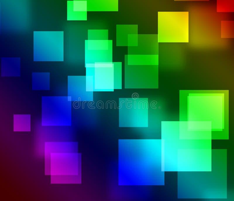 Fundo colorido da luz do quadrado do borrão ilustração royalty free