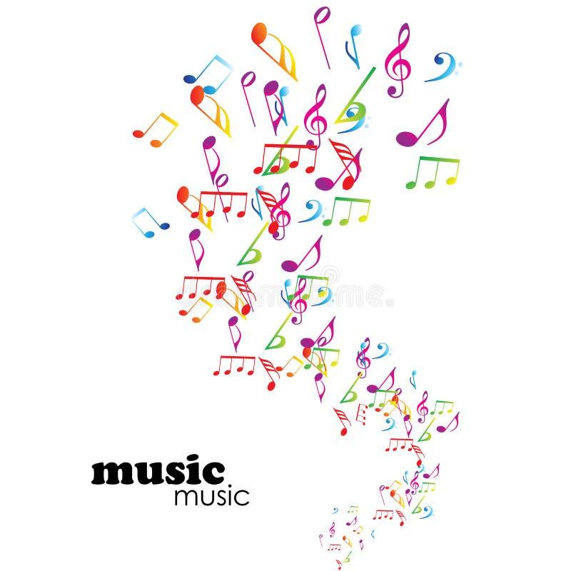 Fundo colorido da música ilustração royalty free