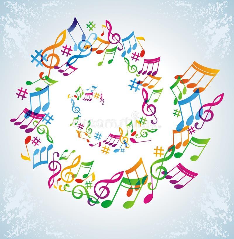 Fundo colorido da música. ilustração stock