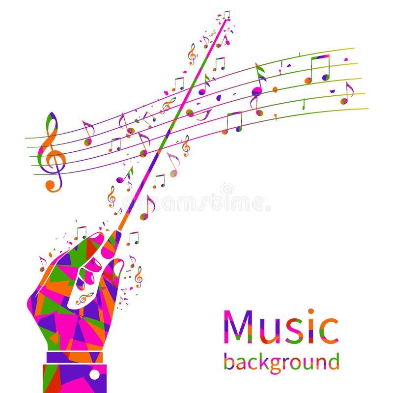 Fundo colorido da música ilustração stock