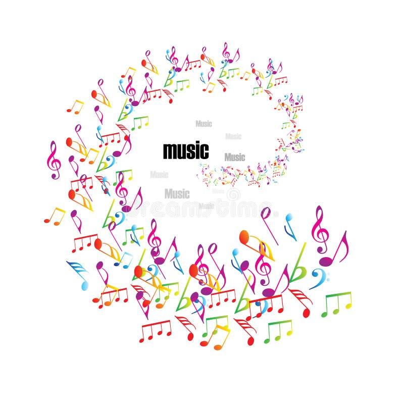 Fundo colorido da música com clefs ilustração royalty free