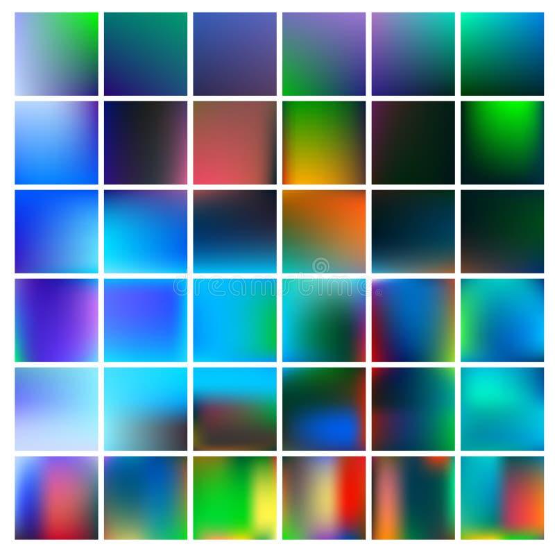 Fundo colorido da malha do inclinação em cores brilhantes do arco-íris Imagem lisa borrada sumário ilustração do vetor