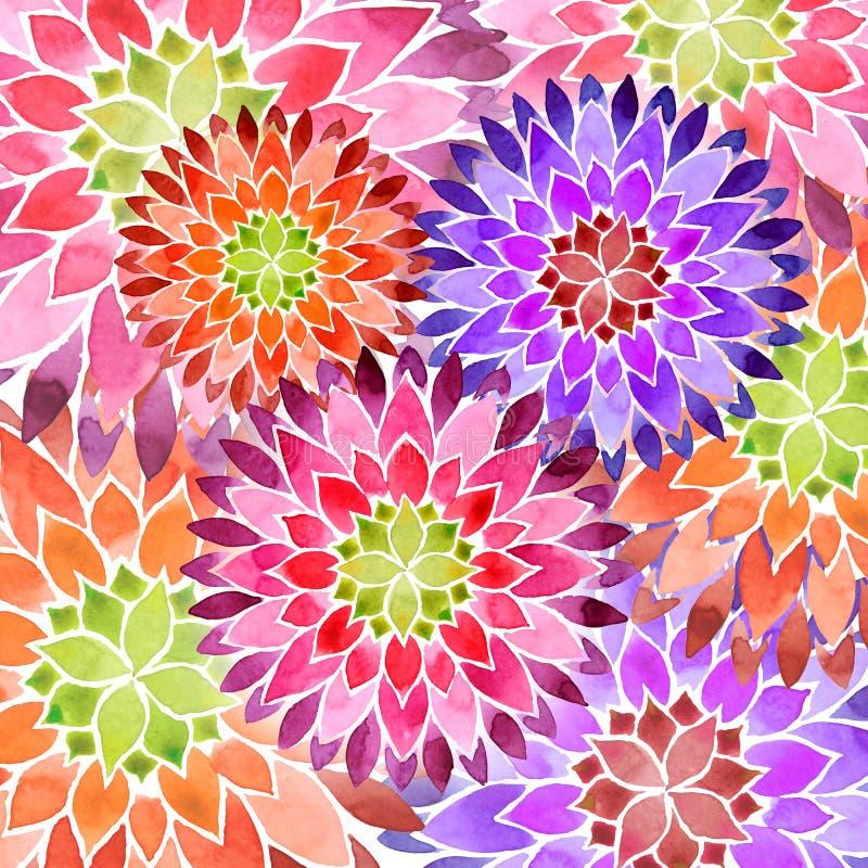 Fundo colorido da mola da flor ilustração royalty free