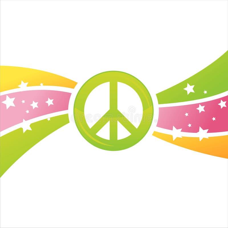 Fundo colorido da paz ilustração royalty free