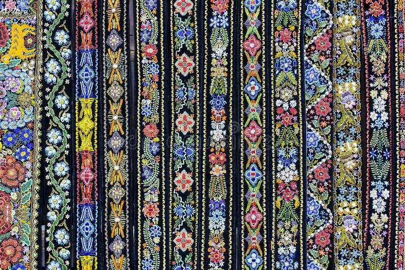 Fundo colorido das correias decorativas