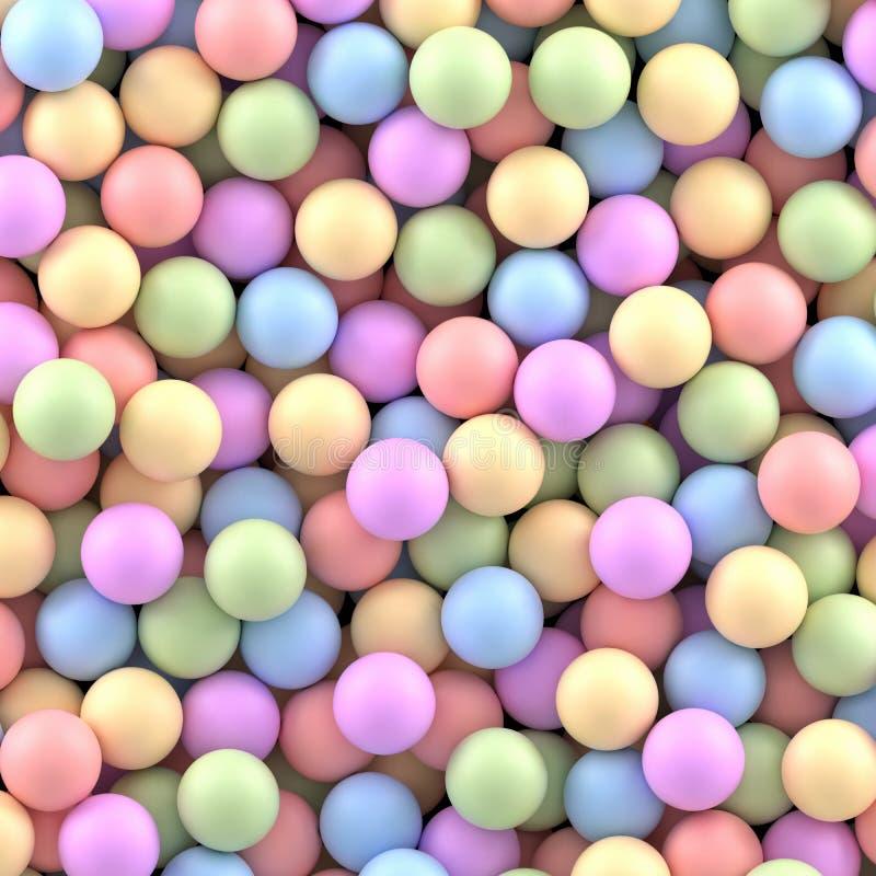 Fundo colorido das esferas ilustração royalty free