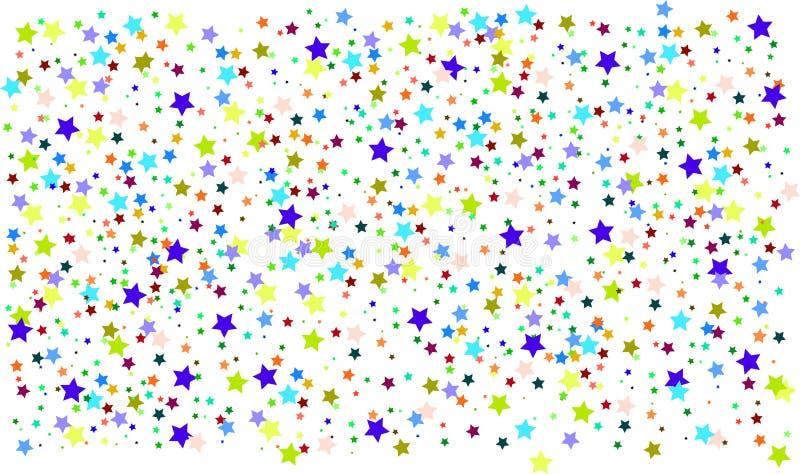 fundo colorido das estrelas, fantasia ilustração do vetor