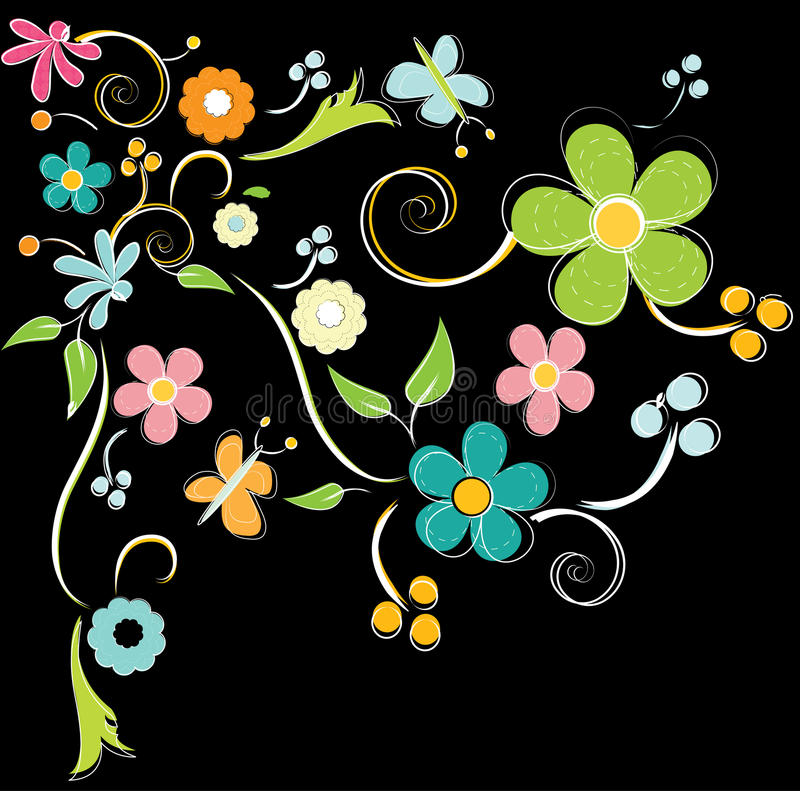 Fundo colorido das flores ilustração do vetor