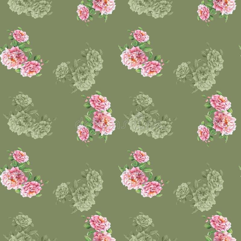 Fundo colorido das flores Aquarela - ilustra??o foto de stock royalty free