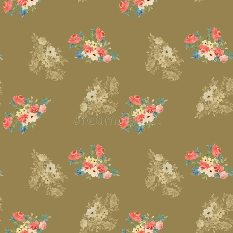 Fundo colorido das flores Aquarela - ilustra??o fotos de stock