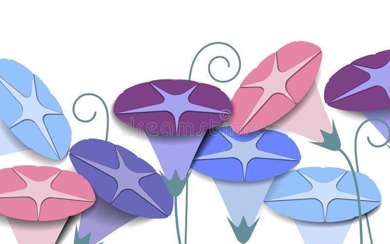 Fundo colorido das flores da corriola ilustração stock