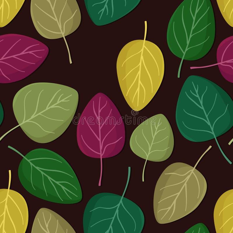 Fundo colorido das folhas ilustração royalty free