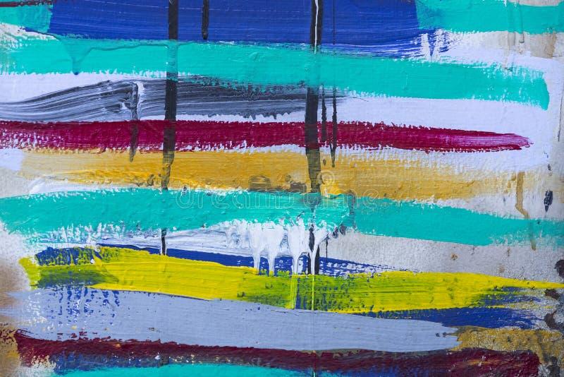 Fundo colorido das listras da pintura acrílica ilustração royalty free