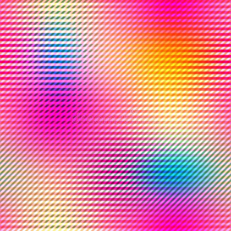 Fundo colorido das pilhas do inclinação em cores brilhantes do arco-íris Imagem borrada sumário ilustração do vetor