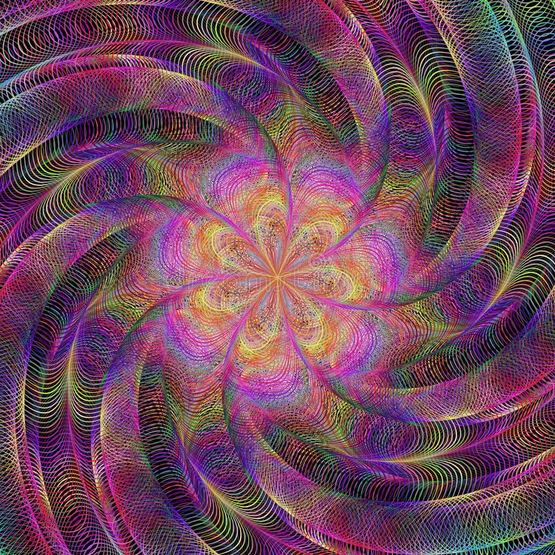 Fundo colorido de giro abstrato da arte do fractal ilustração stock