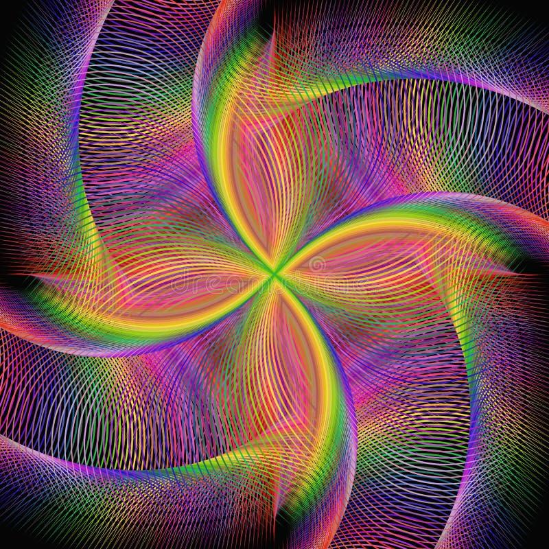 Fundo colorido de giro abstrato do fractal ilustração do vetor