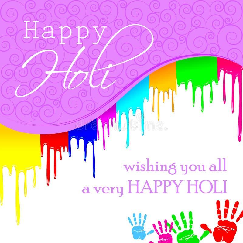 Fundo colorido de Holi ilustração do vetor