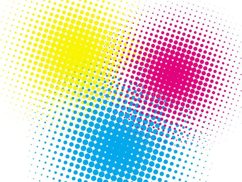 Fundo colorido de intervalo mínimo ilustração do vetor
