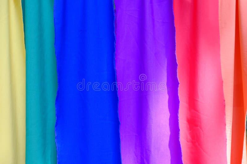 Fundo colorido de matéria têxtil fotos de stock