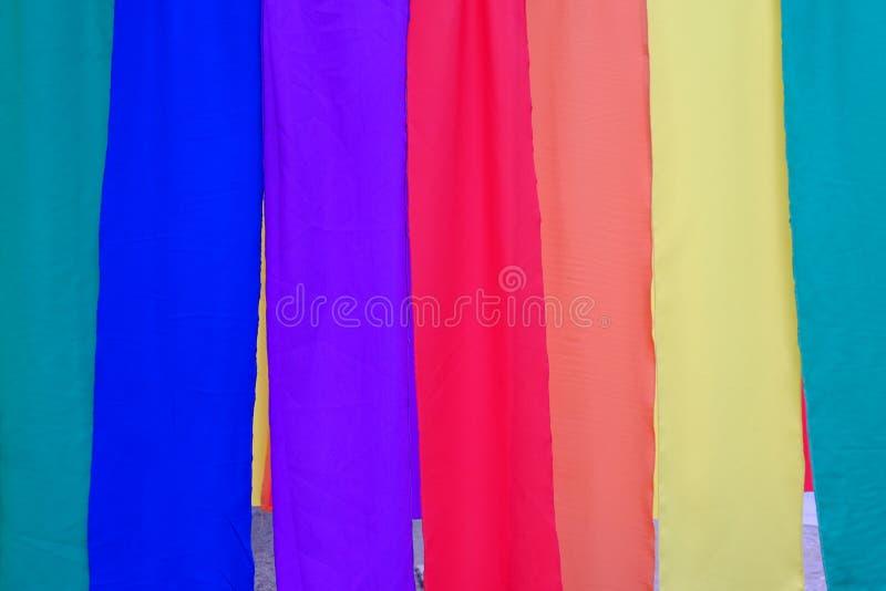 Fundo colorido de matéria têxtil imagem de stock