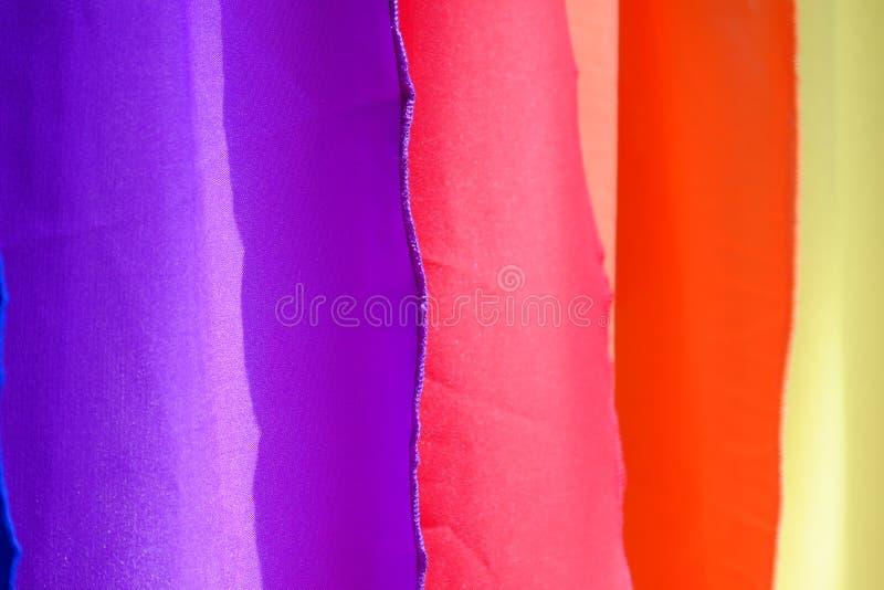Fundo colorido de matéria têxtil fotografia de stock